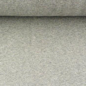 Kreativstoff Strickschlauch Bündchenstoff fein hellgrau meliert 37cm Breite