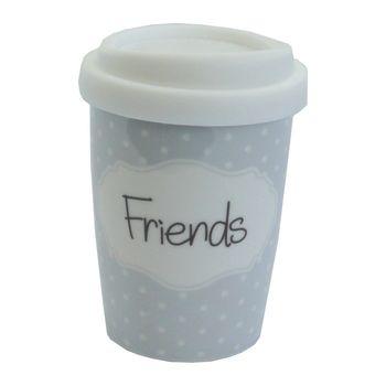 """Mea Living Coffee to go - Tasse Becher mit Spruch """"Friends"""""""