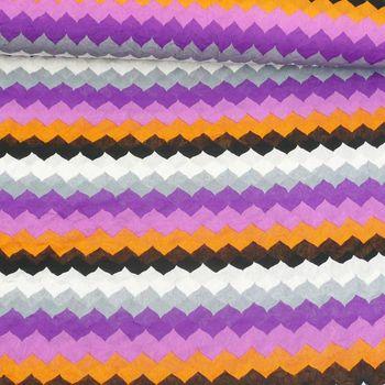 Mesh Creased Wellen weiß schwarz orange lila grau