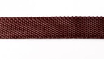 Gurtband schoko braun Breite: 2,5cm
