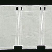 Bistrogardine Scheibengardine Meterware Voile Stickerei creme 30cm Höhe 001