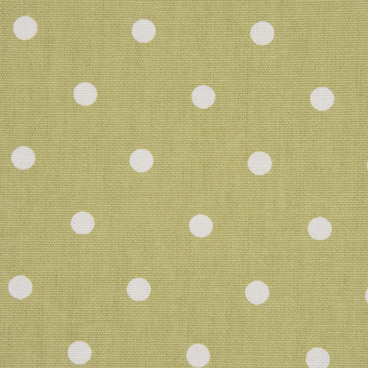 Gardinenstoff Dekostoff Baumwollstoff Full Stop oliv grün mit weißen Punkten 140cm Breite