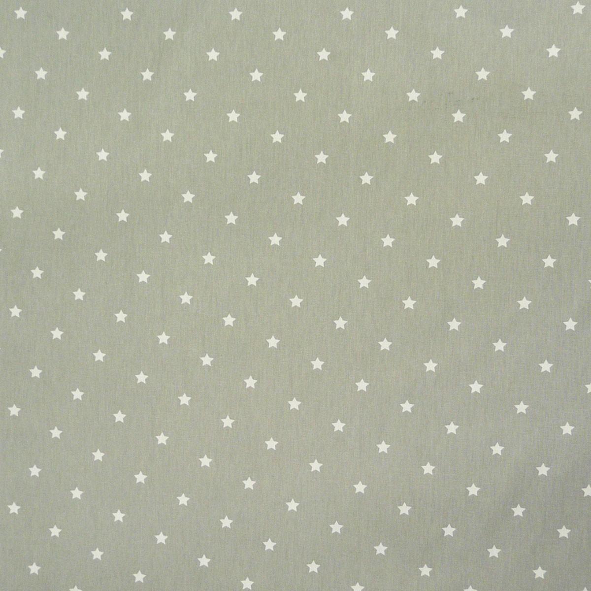 Baumwollstoff Twinkle Sterne grau weiß Stoff Gardinenstoff Dekostoff