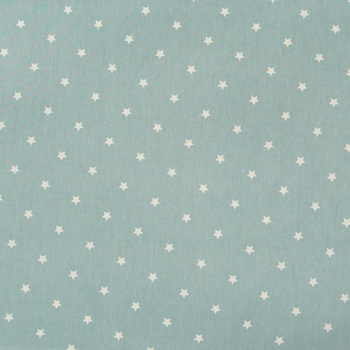Baumwollstoff Twinkle Sterne graublau weiß Stoff Gardinenstoff Dekostoff