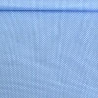 Baumwollstoff Punkte klein Ø 2mm baby blau weiß 001