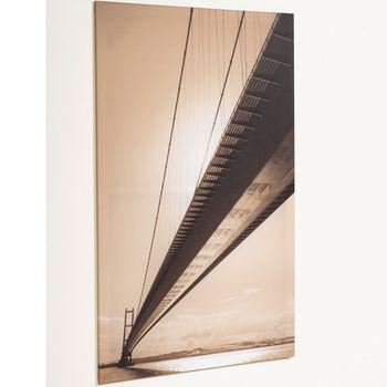 Keilrahmen Bild Digitaldruck Brücke Bridge 85x140cm