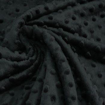 Fleece Minky dots Noppen schwarz Kuschel Stoff Flausch – Bild 1