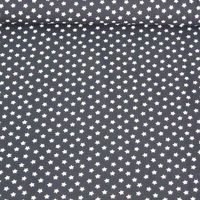 Jersey Stoff Sterne dunkelblau weiß