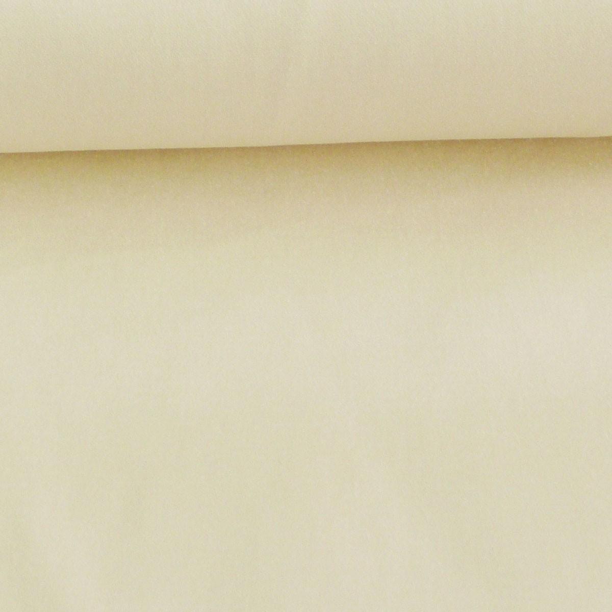 Baumwolle Stoff Meterware Baumwolle Satin Spandex ecru 1,45m Breite