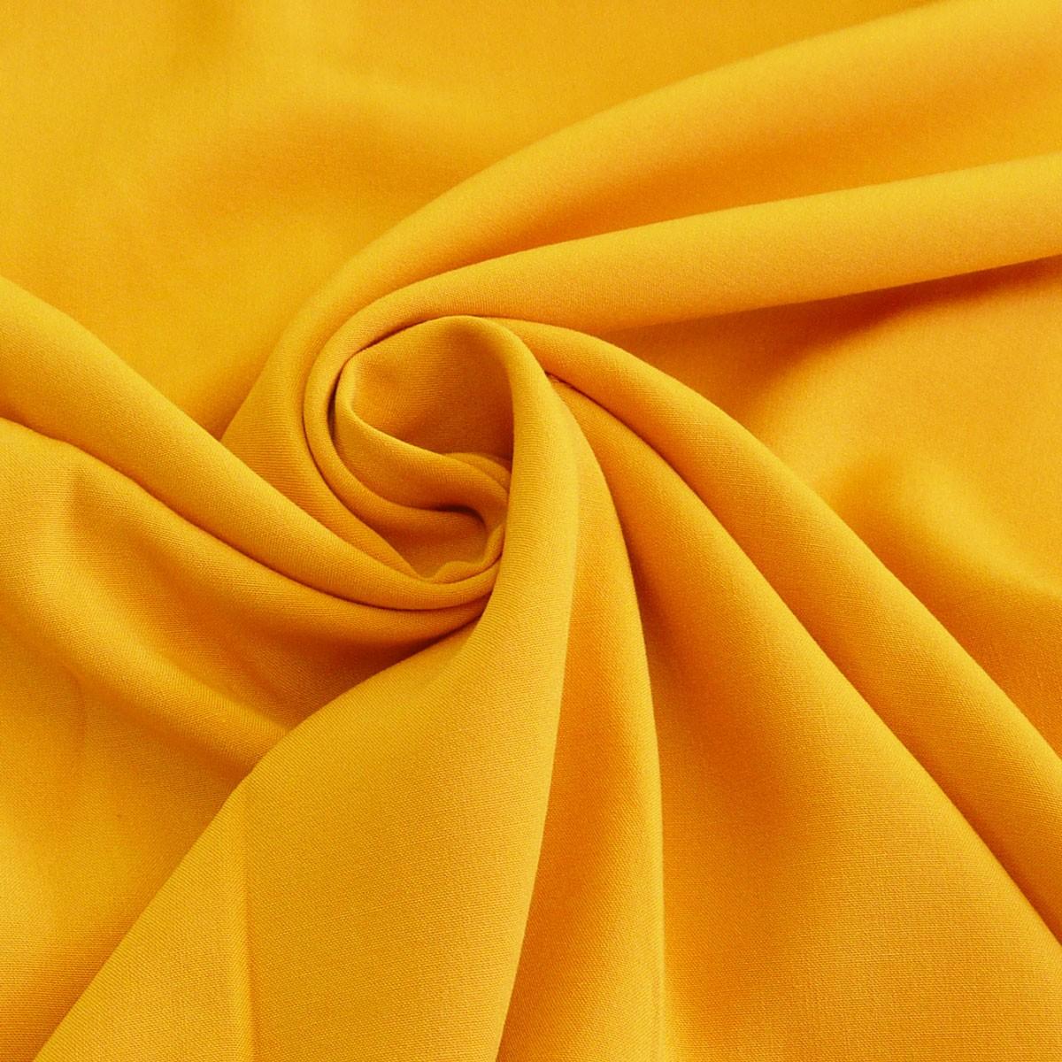 bekleidungsstoff meterware radiance dunkel gelb stoffe stoffe uni polyester. Black Bedroom Furniture Sets. Home Design Ideas
