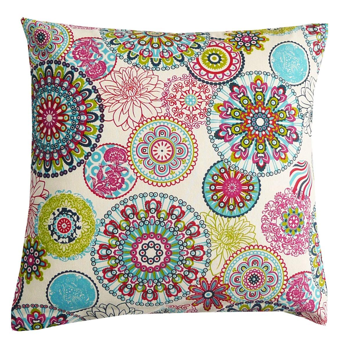 Schoner Leben Kissenhulle Mandala Blumen Muster Bunt 50x50cm