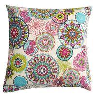Schöner Leben Kissenhülle Mandala Blumen Muster bunt 50x50cm