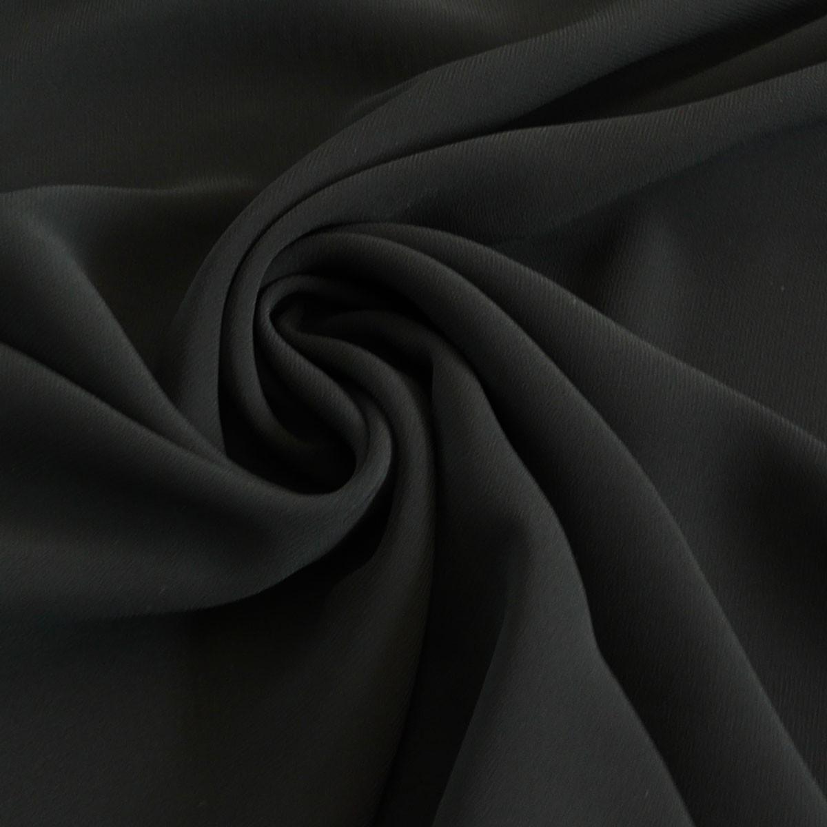 chiffon meterware schwarz ebay. Black Bedroom Furniture Sets. Home Design Ideas