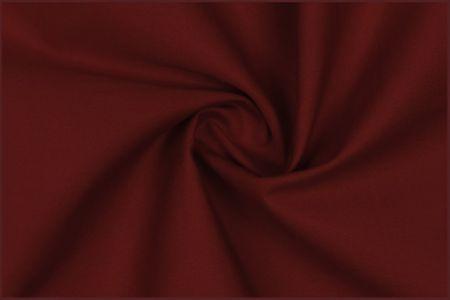 Baumwoll Popeline Bekleidungsstoff bordeaux rot 1,4 m Breite