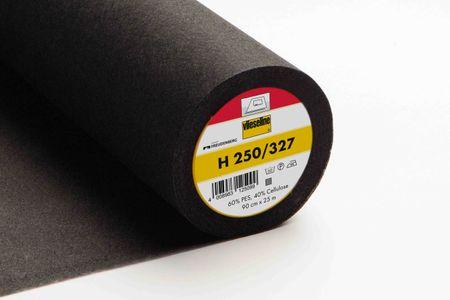 Vlieseline Bügelvlies H250 schwarz 90cm Breite – Bild 1