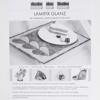 Lamifix Bügelfolie transparent glänzend 45cm Breite – Bild 4