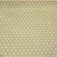 Tischdeckenstoff Wachstuch beschichtete Baumwolle beige Sterne weiß  001