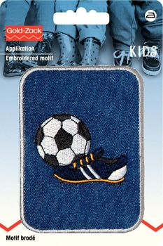 Prym Applikation Fußball Jeans  7x9,5cm