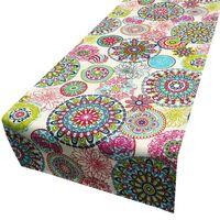 Schöner Leben Tischläufer Blumen Mandala bunt 40x160cm