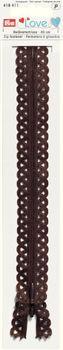 Prym LOVE Reißverschluss Deko dunkelbraun Länge: 40cm