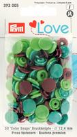 Prym Color Snaps Druckknöpfe Ø12,4mm apfelgrün türkis braun je 10 Stück 001