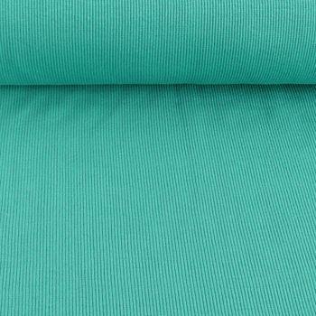 Kreativstoff Strickschlauch Bündchenstoff grob türkis mintgrün 27cm Breite
