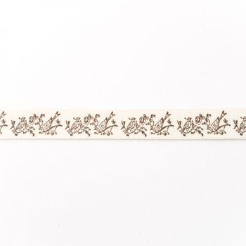 Baumwollband Vögel Meterware Breite: 1,5cm