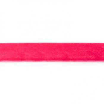 Samtband fuchsia Meterware Breite: 25mm 100% Polyester