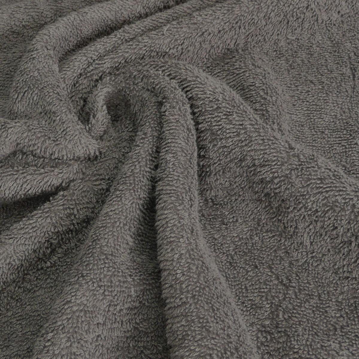 Frottee Handtuch Stoff Meterware dunkelgrau