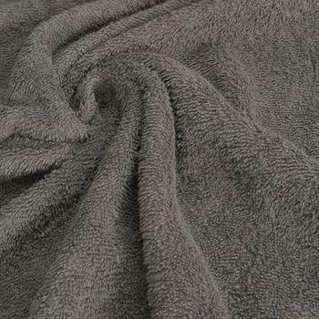 Frottee Handtuch Stoff Meterware dunkelgrau – Bild 1