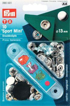 Prym NF-Druckknopf Sport Mini silberfarbig Ø 13 mm