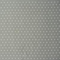 Tischdeckenstoff Wachstuch beschichtete Baumwolle grau Sterne weiß  001