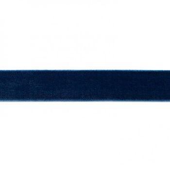 Samtband dunkelblau Meterware Breite: 25mm 100% Polyester