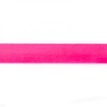 Samtband neon pink Meterware Breite: 25mm 100% Polyester