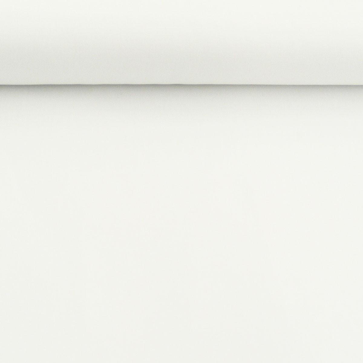 Baumwolle Stoff Meterware Satin Spandex weiß 1,45m Breite