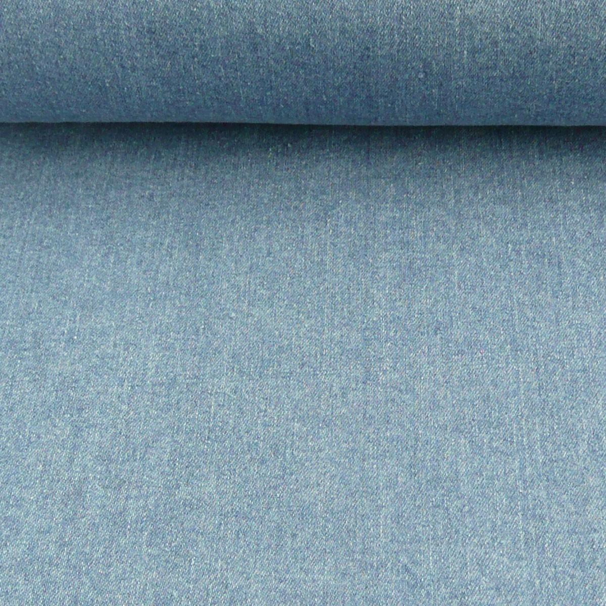Jeansstoff Stoff Stretch Jeans hellblau 9OZ