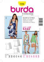 Burda Schnittmuster 7390 Kleid Tunika
