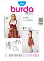 Burda Schnittmuster 7443 Dirndl 001