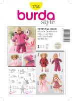 Burda Schnittmuster 7753 Puppenkleider 001