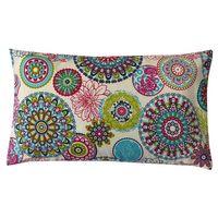 Schöner Leben Kissenhülle Mandala Blumen Muster bunt 30x50cm 001