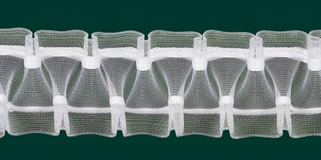 Gardinenband Faltenband Smokband 50mm transparent 1:2,5