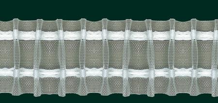 Gardinenband Faltenband Bleistiftfalte 50mm transparent 1:2,5