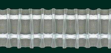 Gardinenband Faltenband Bleistiftfalte 50mm transparent 1:2