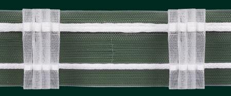 Gardinenband Faltenband 50mm transparent 5er Falte 1:2,5