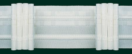 Gardinenband Faltenband 50mm weiß 5er Falte 1:2,5
