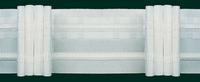 Gardinenband Faltenband 50mm weiß 5er Falte 1:2,5 001