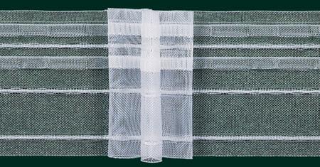 Gardinenband Faltenband 80mm volltransparent 5er Falte 1:2,5