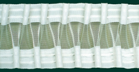 Gardinenband Faltenband Smokband 80mm halbtransparent  1:2