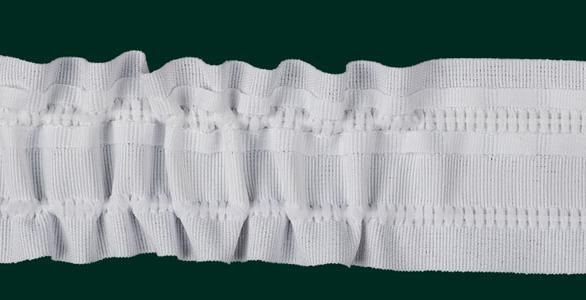 Gardinenband Universalband 50mm weiß variabel Gardinenbänder