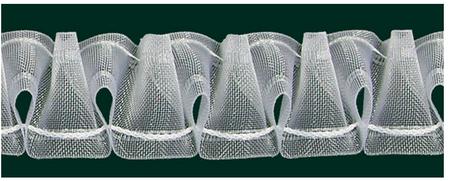 Gardinenband Vitragenband Smok volltransparent 35mm 1:2